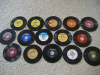 25 Juke Box 45's For Crafts and Decoration! Lot Art 45 RPM 7""
