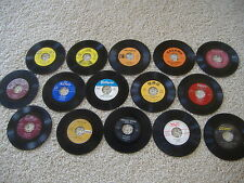 """25 Juke Box 45's For Crafts and Decoration! Lot Art 45 RPM 7"""""""