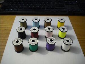12 Spools of UNI-STRETCH Thread in 12 Popular Colors