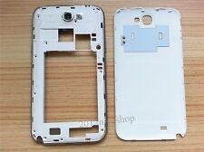 Batería de tapa de puerta + Marco Central Cubierta Para Samsung Galaxy Note 2 N7100 Blanco II