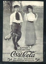 DRINK COCA COLA AFTER EXERCISE GOLF GOLFERS WOMAN MAN 5 CENT POSTCARD COPY