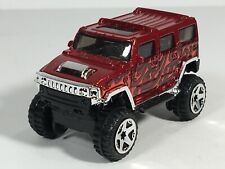 Hot Wheels 2006 Hummer H2 Metalflake Dark Red First Editions Malaysia Loose (#3)