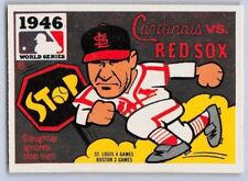 1980  FLEER WORLD SERIES Logo Sticker Baseball Card - 1946 - RED SOX vs CARDINAL