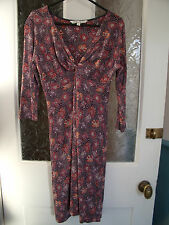 Fat Face Stretch Jersey Floral Dress Size 8 Floral Print