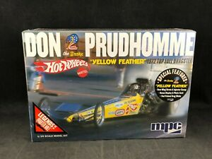 """MPC Don """"The Snake"""" Prudhomme """"Yellow Feather"""" '72 Top Fuel Dragster 1:25 SC 844"""