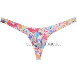 Mens Thongs Pouch Bikini Bulge G-string Hipster T-back Underwear XL Butterfly
