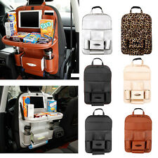 Car Seat Back Bag Leather Organizer Storage iPad Phone Holder Multi-Pocket