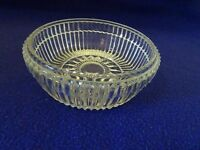 VINTAGE CLEAR GLASS CANDY DISH-MISSING LID-UNKNOWN BRAND-