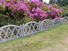 Worth Garden Plastic Fence Pickets Indoor Outdoor Protective Guard Edging Decor