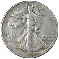 1946 50c Liberty Walking Silver Half Dollar US Coin VF Very Fine