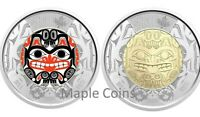 NEW! 2020 BILL REID Toonie $2 Color + NO Color Canada Coin - Haida Grizzly Bear