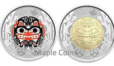 NEW! 2020 BILL REID Toonie $2 Color + NO Color Canada Coin - Haida Grizzly Bear