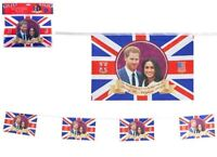 20ft Royal Wedding Plastic Bunting 8 Flags Harry Meghan Union Jack British Party