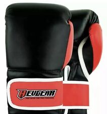 New Revgear Black/red Leather Boxing Gloves 12 oz Unisex Sports Equipment