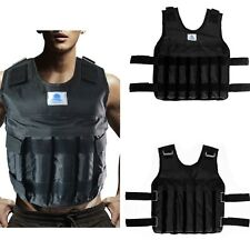 44LBS/20KG ADJUSTABLE WEIGHTED VEST JACKET STRENGTH TRAINING WORKOUT FITNESS NEW