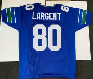 Steve Largent Jersey Custom Unsigned Stitched Blue Seattle Jersey Size XL