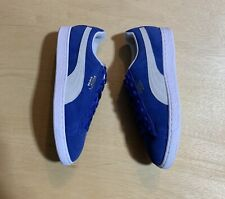 NEW IN BOX - Puma Suede Classic Olympian Blue & White Men's Shoe - Size 11 US