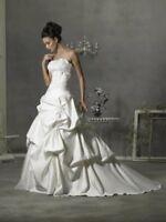 2017 New Elegance White/Ivory Wedding dress Bridal Gown Size 6 8 10 12 14 16 18