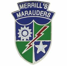 Merrill's Marauders WWII Special Light Infantry Hat or Lapel Pin H14713D110