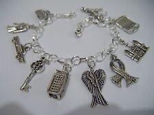 Supernatural/Doctor Who/Sherlock Fandom Geek Charm Bracelet SuperWhoLock BBC TV