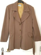 United Colors of Benetton Wool Coat - Size 46 - Brown