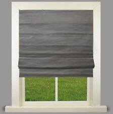 Vienna Graphite Faux Silk Lined Roman Blind With Fittings Great Quality 2ft(61cm)