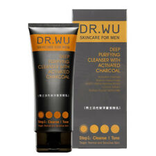 Dr. Wu MEN'S Skincare Deep Purifying Cleanser With Activated Charcoal 150ml New