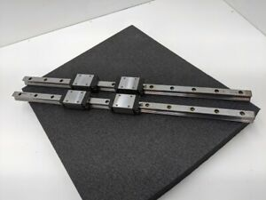 Rexroth 700mm Linear Guide 2 Rail 4 SNS Bearing Blocks