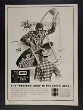 1964 Levi's Western Wear Black Angus Pattern Shirts vintage print Ad