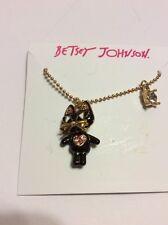 $32 Betsey Johnson Minis Cat Pendant  Ab 504
