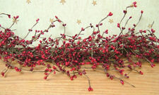 New Country Primitive Floral Christmas RED BERRY GARLAND Pip Berries Swag Vine