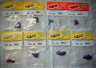 RC Purple Screw & Nut Hardware Lot, 2 of Each size, 20 per size, OFNA Parts, NEW