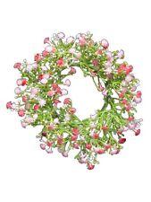 Kranz Blütenkranz Kunstblumen Beauty Rosé Schleierkraut Shabby Chic Vintage NEU
