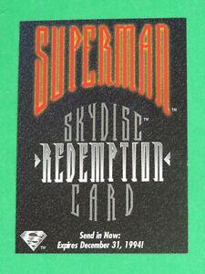 1994 SUPERMAN MAN OF STEEL PLATINUM SERIES PREMIUM SKYDISC REDEMPTION CARD SD3!