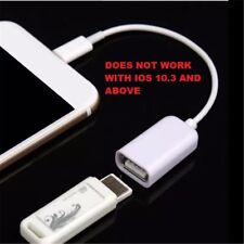 Lightning OTG Cable macho adaptador hembra de 8 Pines a USB para Apple iPhone 5/S/C iPad