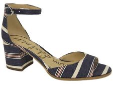 Sam Edelman Women's Susie Block-Heel Dress Sandals Red/White/Blue Stripe Size 6M