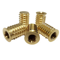 Heavy Duty Blind Self Tapping Inserts Brass (5 Pack)
