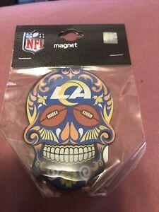 Los Angeles Rams Sugar Skull Magnet NFl