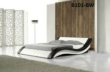 ITALIAN DESIGN QUEEN SIZE black &  PU LEATHER BED  3 colour options