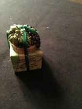 New listing Pewter Bottle Stopper Cork with Purple Grapes New