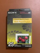 "New Sony SVM-25LS Color Printing Pack 4"" x 6"" Postcard Size Photo Paper"