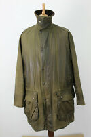 BARBOUR Border Olive Wax Jacket Size 107Cm/42In
