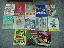 25 + PC'S OF PHILLIES MEMORABILIA  1974 -1990 BLOWOUT LOT YEARBOOKS SCORECARDS