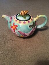 "Blue Sky Jeanette McCall Icing on the Cake ""Sea Stars & Scallops"" Tea Pot Ocean"