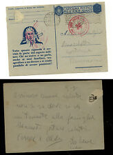 Italy military   card  red cross cancel  1942            KEL0424
