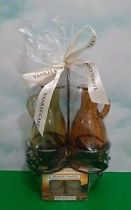 Yankee Candle Oil & Vinegar Cruet Set Wine Pairings Collection Tea Light Holders