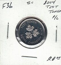 F36 CANADA 5 CENTS 2004 TEST TOKEN - PROOF-LIKE IN MINT CELLO - $20.00