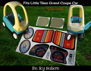 Toy Restore Replacement Stickers fits Little Tikes Grand Cozy Coupe Car Decal