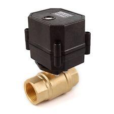 """3/4"""" NPT Motorized Ball Valve Brass FKM (Viton) 9, 12V to 24V AC / DC 3-wire"""
