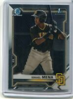 2021 Bowman Chrome Prospects - Ismael Mena Chrome Base RC Rookie Card